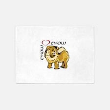 CHOW CHOW LOVE 5'x7'Area Rug