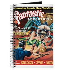 Fantastic Adventures-VINTAGE PULP MAGAZINE COVER J