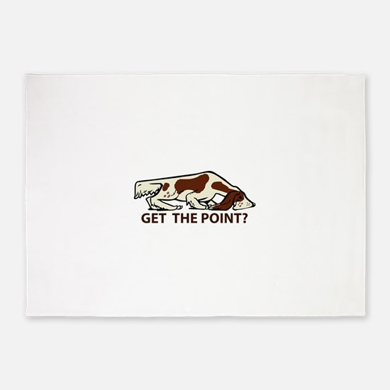 GET THE POINT 5'x7'Area Rug