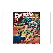 Fantastic Adventures-VINTAGE PULP MAGAZINE COVER P