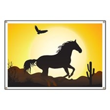 Funny Wild horse Banner