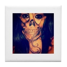 Funny Skull Tile Coaster