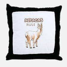 ALPACAS RULE Throw Pillow