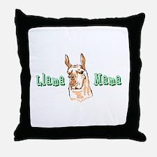 LLAMA MAMA FULL CHEST Throw Pillow