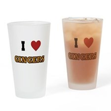 I love Gingers Drinking Glass