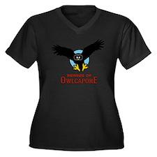 Owlcapone (F Women's Plus Size V-Neck Dark T-Shirt