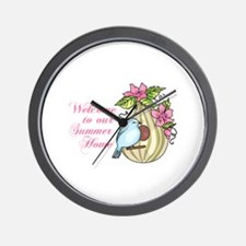 WELCOME TO OUR SUMMER HOME Wall Clock