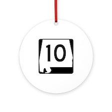 Route 10, Alabama Ornament (Round)