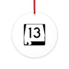 Route 13, Alabama Ornament (Round)