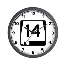 Route 14, Alabama Wall Clock