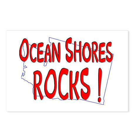 Ocean Shores Rocks ! Postcards (Package of 8)