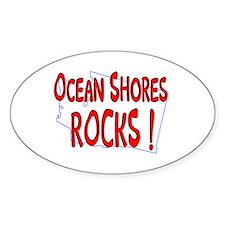 Ocean Shores Rocks ! Oval Decal