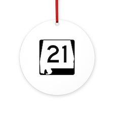 Route 21, Alabama Ornament (Round)