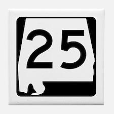 Route 25, Alabama Tile Coaster