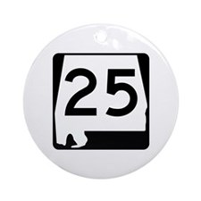 Route 25, Alabama Ornament (Round)