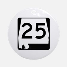 Route 25, Alabama Ornament (Round)