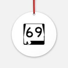 Route 69, Alabama Ornament (Round)