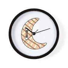 CRESCENT MOON BUTTON Wall Clock