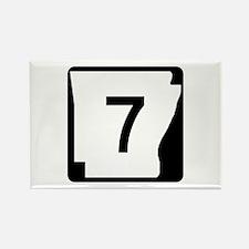 Route 7, Arkansas Rectangle Magnet
