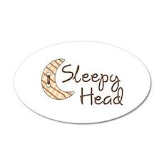 SLEEPY HEAD Wall Decal