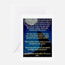 CHEROKEE LESSON Greeting Card