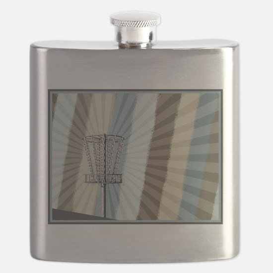 Disc Golf Basket Graphic Flask