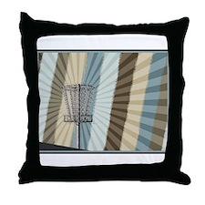 Disc Golf Basket Graphic Throw Pillow