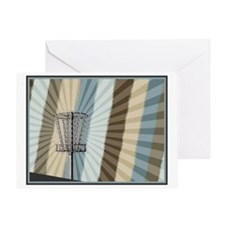 Disc Golf Basket Graphic Greeting Cards