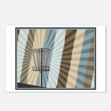 Disc Golf Basket Graphic Postcards (Package of 8)