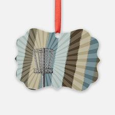 Disc Golf Basket Graphic Ornament