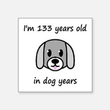 19 dog years 2 - 2 Sticker