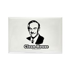 Ron Paul 2008: Clean house Rectangle Magnet