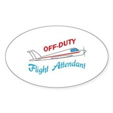 OFF DUTY FLIGHT ATTENDANT Decal