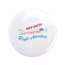 "OFF DUTY FLIGHT ATTENDANT 3.5"" Button"