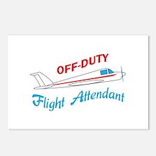 OFF DUTY FLIGHT ATTENDANT Postcards (Package of 8)