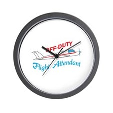 OFF DUTY FLIGHT ATTENDANT Wall Clock