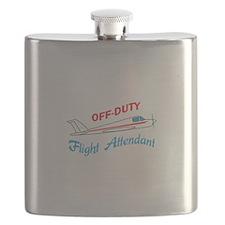 OFF DUTY FLIGHT ATTENDANT Flask