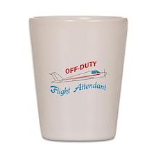 OFF DUTY FLIGHT ATTENDANT Shot Glass