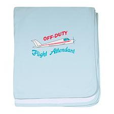 OFF DUTY FLIGHT ATTENDANT baby blanket