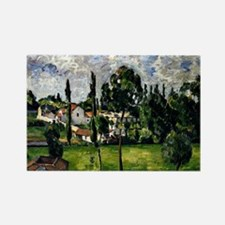 Cezanne - Landscape with a Canal Rectangle Magnet