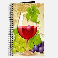Wine Glass and Grape Vines Journal