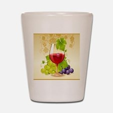 Wine Glass and Grape Vines Shot Glass