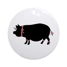 Piggies Den Ornament (Round)