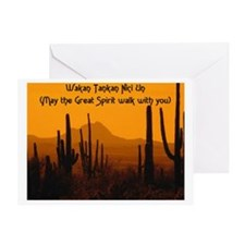 MAY THE GREAT SPIRIT WALK WITH YOU Greeting Card