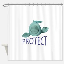 PROTECT BELUGA WHALES Shower Curtain