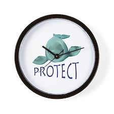 PROTECT BELUGA WHALES Wall Clock