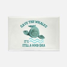 SAVE THE WHALES Magnets