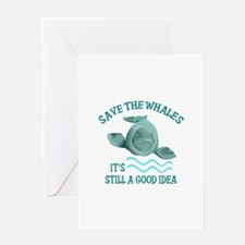 SAVE THE WHALES Greeting Cards