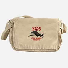 SOS STOP SHARK FINNING Messenger Bag