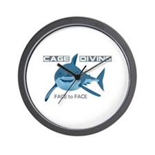 CAGE DIVING Wall Clock